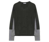 Kaschmir Pullover Grün Grau