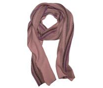 Kaschmir Schal Stripes Rose Violett Aubergine
