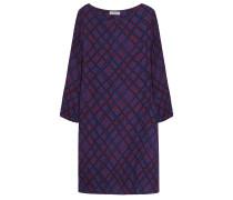 Viskose Kleid Muster Rot Blau