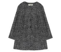 Tweed Mantel Grau Schwarz