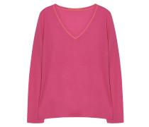 Kaschmir Pullover V Ausschnitt Vibrant Pink
