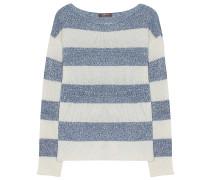 Pullover Jeansblau Weiß