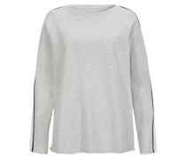 Sweater Fleece Grau Stripes