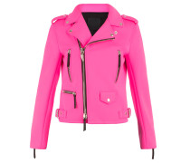 Fuxia fabric motorcycle jacket AMELIA