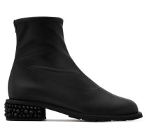 Black stretch fabric nappa boot GABRIELA