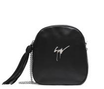 Black nappa leather shoulder bag BICE