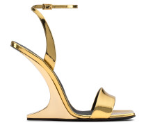 Mirrored gold patent leather wedge PICARD