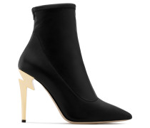 Black stretch fabric boot with sculpted heel G-HEEL