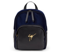 Dark blue velvet backpack KATY