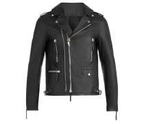 Black nappa motorcycle jacket KIAN