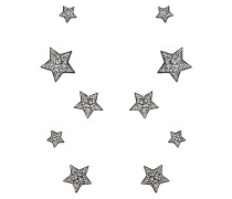 Silver suede stars with crystals STARS 03
