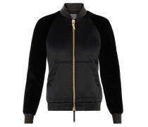 Women's black satin and chenille sweatshirt ARLEY