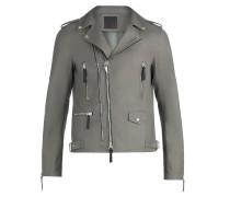 Grey nappa motorcycle jacket KIAN