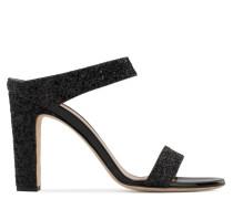 Black glitter mule with chunky heel ALIZÉE