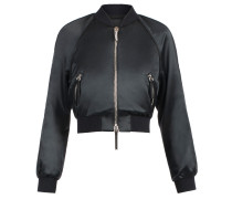 Black satin bomber jacket BLAIN