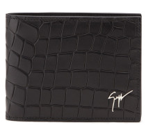 Crocodile-embossed leather wallet ALBERT