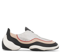 Multicolour leather and fabric low-top sneaker LIGHT JUMP LTS2