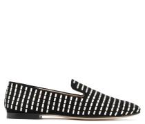 Black suede loafer with crystals all over DELANEY