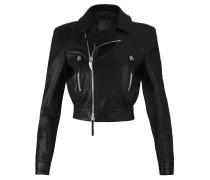 Women's black nappa leather jacket DELI