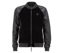 Velvet and leather bomber jacket LANCE