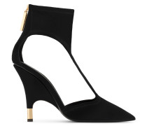 Black stretch suede pump KEIRA