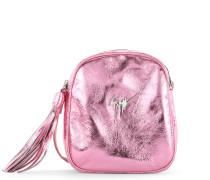 Pink leather shoulder bag BICE