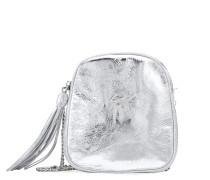 Silver leather shoulder bag BICE