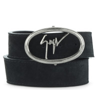 Black suede belt ZED