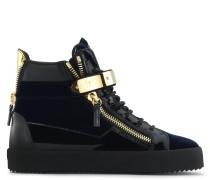 Blauer Samt-Sneaker in mittelhoher Ausführung COBY