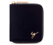 90x110 mm dark blue velvet wallet TOM