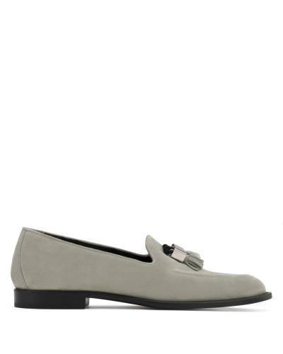 Giuseppe Zanotti Herren Grey suede loafer ABRAM Verkauf Großer Diskont Billig Verkauf Neue Stile Original Günstig Online Offiziell Sat pnRgp1