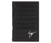 75x115 mm black crocodile embossed calfskin wallet ALBERT