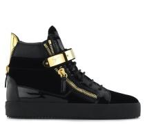 Schwarzer Samt-Sneaker in mittelhoher Ausführung COBY