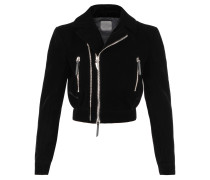 Women's black velvet jacket AMELIA CROP
