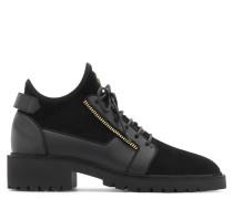 Black stretch suede boot BAXTER