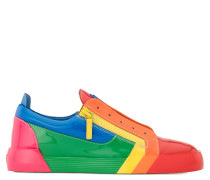 Multicolour patent leather low-top sneaker RNBW