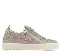 Multicolour fabric low-top sneaker with glitter finishing CHERYL GLITTER