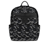 Grey camouflage fabric backpack with rubber finishing RANDY