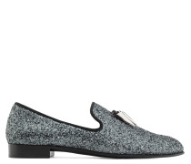 Black fabric loafer with glitter finishing SPACEY