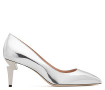 Silver mirrored patent leather d G-HEEL