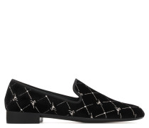 Black velvet loafer with 'Logo' motif REGAL G