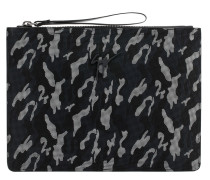Camouflage fabric pouch with rubber finishing MARCEL