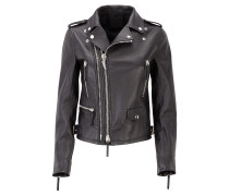Women's black nappa leather jacket DENZEL
