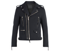Black fabric motorcycle jacket KIAN