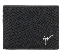 Black python-embossed calfskin leather wallet ALBERT