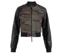 Camouflage fabric bomber jacket BLAIN