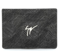 Black calfskin leather cardholder ALBERT