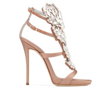 Blush satin sandal with 'Cruel' crystals accessory CRUEL SPARKLE