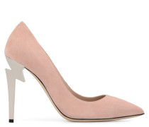 Pink suede pump with 'sculpted' heel G-HEEL