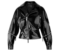 Black patent leather jacket AUTUMN
